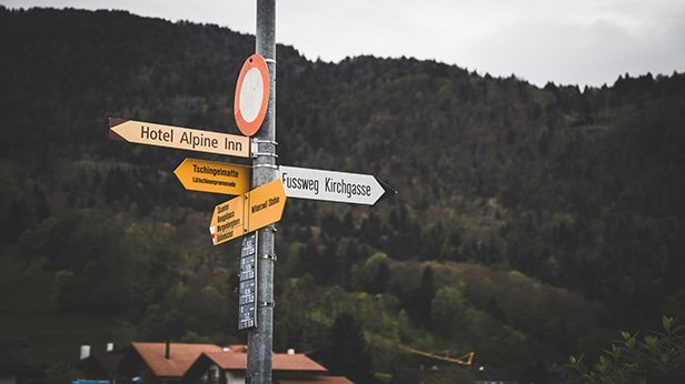 Photo of Switzerland Road Signs
